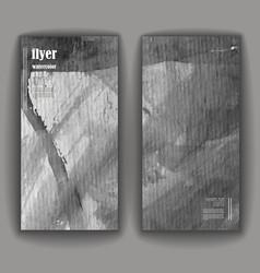 watercolor brochure vector image