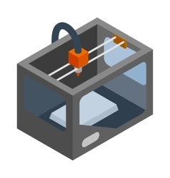3d printer icon isometric 3d style vector image
