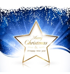 golden christmas star background vector image vector image