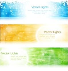 Light burst banner set vector