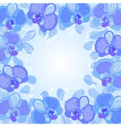 orchid frame vector image