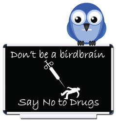 say no to drugs message vector image vector image