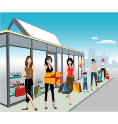 shoe shoppers vector image vector image