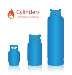 Cylinders with the compressed gases vector image