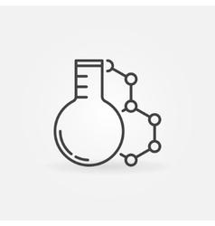 Laboratory glass with molecule icon vector image vector image