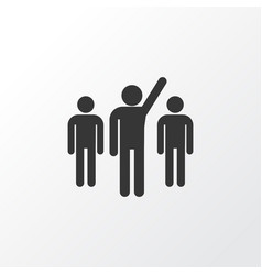 leader icon symbol premium quality isolated vector image