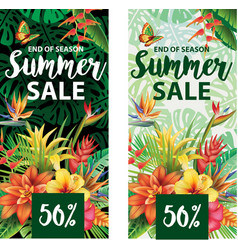 summer sale banners design vector image vector image
