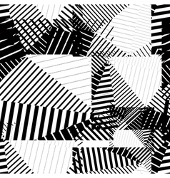 Black and white endless striped tiling fashionable vector image