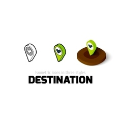 Destination icon in different style vector image vector image