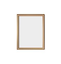 golden frame isolated on white background vector image