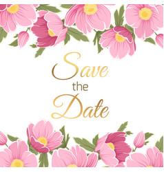 pink purple spring floral garland wedding invite vector image vector image