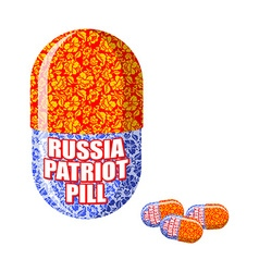 Russian patriotic pill Capsule with national vector image vector image
