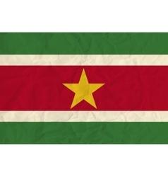 Surinam paper flag vector image vector image
