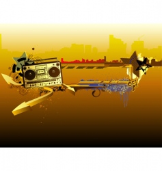 urban music frame vector image vector image