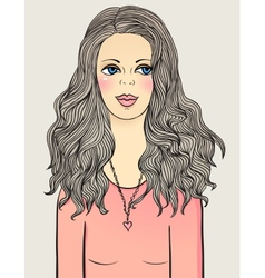 a girl with clean and simple face vector image