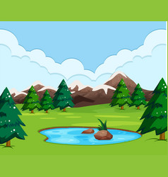 A nature view landscape vector