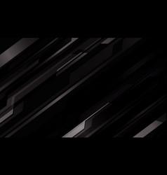Abstract dark grey metallic cyber pattern on black vector