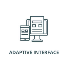 adaptive interface line icon adaptive vector image