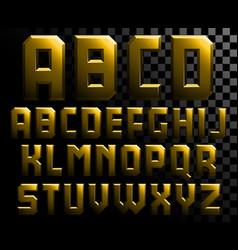 Alphabet of metal letters vector