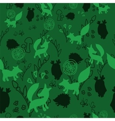 Animal pattern with wild animals vector image