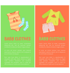 Baclothes two color cards vector