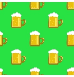 Beer Mug Seamless Pattern vector