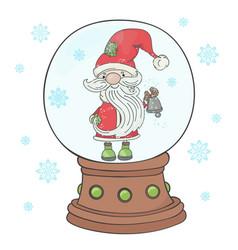 bell santa merry christmas new year vector image