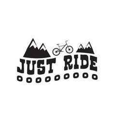 bike badge vintage style vector image