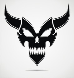 Black Demon Mask vector image