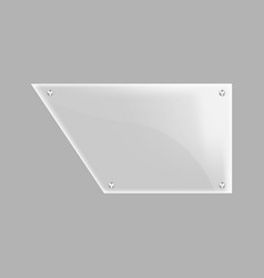 Blank glass plate isolated icon vector