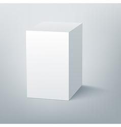 Blank isolated box mockup with shadow 3 vector
