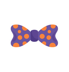 bow tie orange circle icon flat style vector image