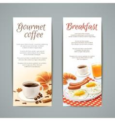 Breakfast Banners Set vector