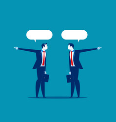 businessman talk and show in different directions vector image