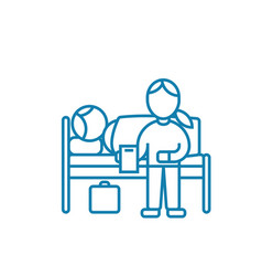care of the patient linear icon concept care of vector image