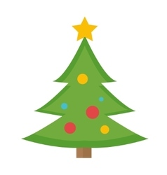 Christmas tree icon isolated on white vector
