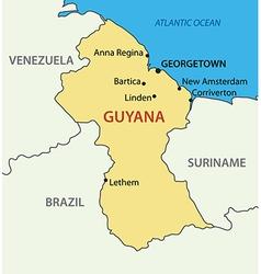 co-operative republic guyana - map vector image