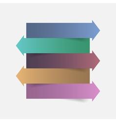 Color paper arrow infographics template design vector