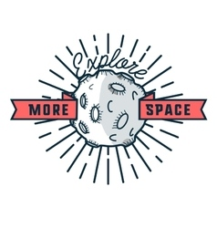 Color vintage space emblem vector image