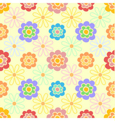 colorful floral flower girly seamless pattern vector image
