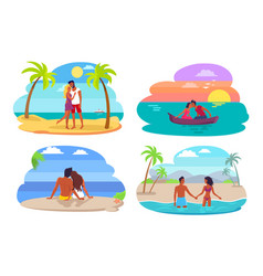 Couples collection seaside vector