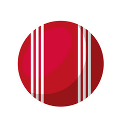 cricket ball isolated icon vector image