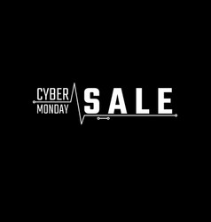 cyber monday sale banner cyber monday advertising vector image