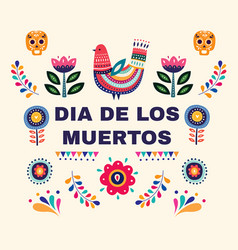 Design for mexican holiday day of the dead vector
