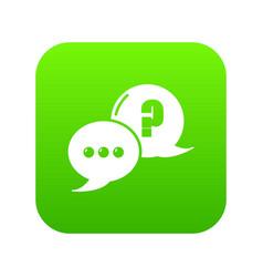 dialog icon green vector image