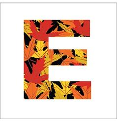 E Letter vector image