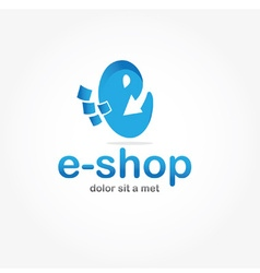 e shop design template vector image