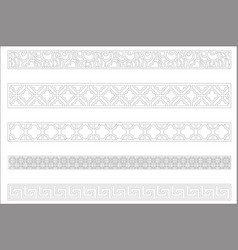 Edge ornament for frame design vector