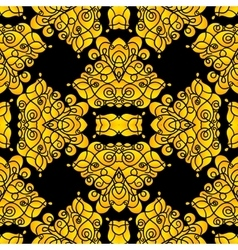 Elegant black and gold creative seamless pattern vector