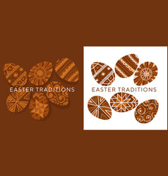 ethnic easter egg ornament in natural colors vector image